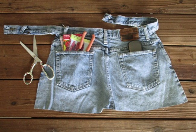 Apron from jeans