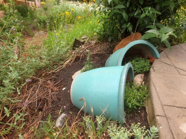 Saved ceramic pot placed at a corner