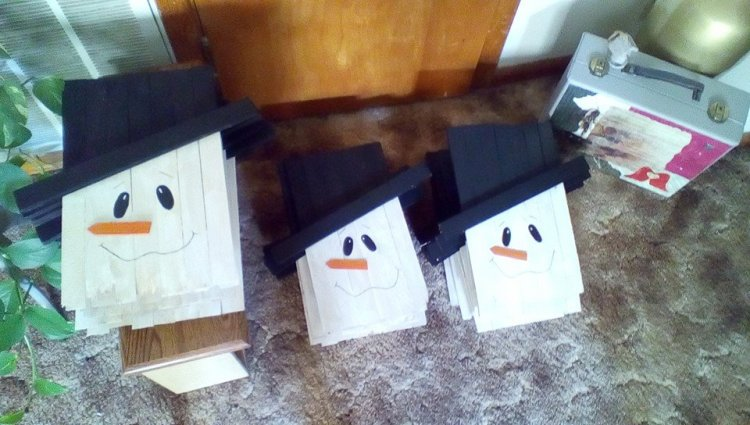 Terri Cox I made 22 snowmen for gifts