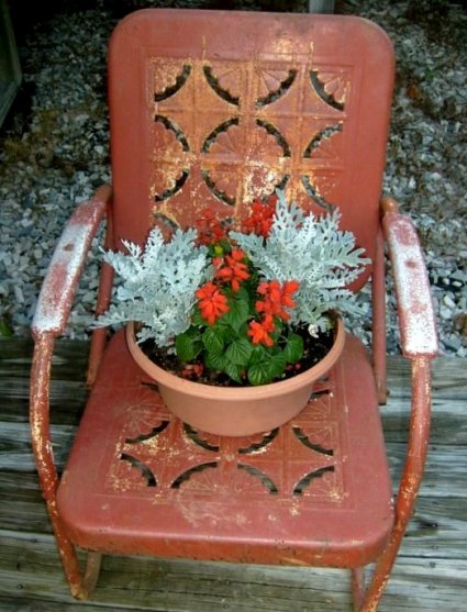 Amy Hatcher's purely rusted chair