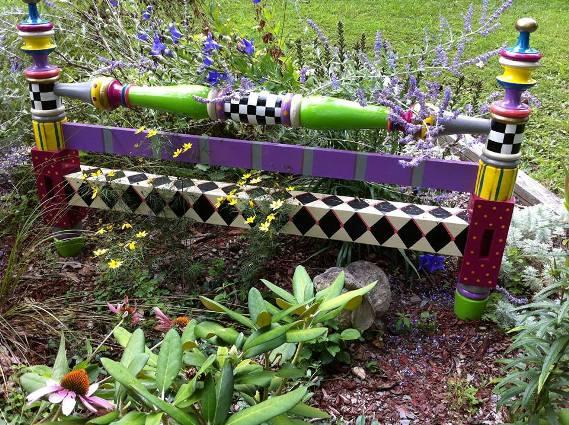 Jeanne Mansfield's vivid bed frame garden