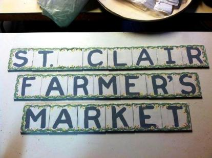 A new sign for the market
