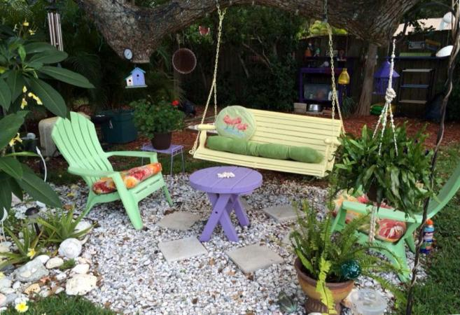 Outdoor patio living flea market style flea market gardening