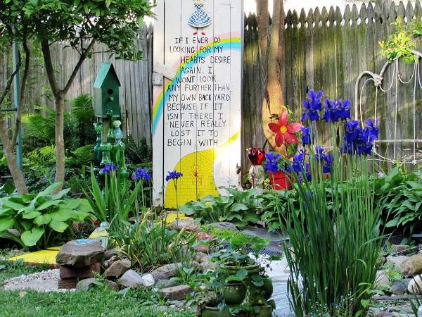 The Yellow Brick Road garden