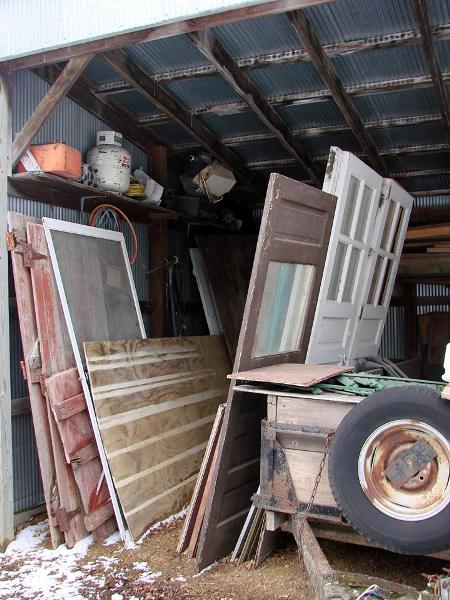 Jeanne's son-in-law gave her three old doors!