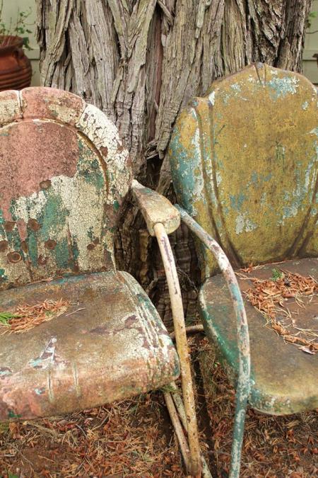 Just look at the patina on Shari Delgado-Nicsevic's old chairs!