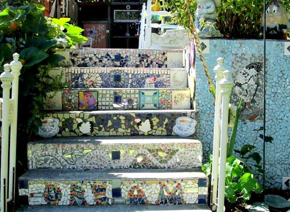Teri Smith's tiled staircase