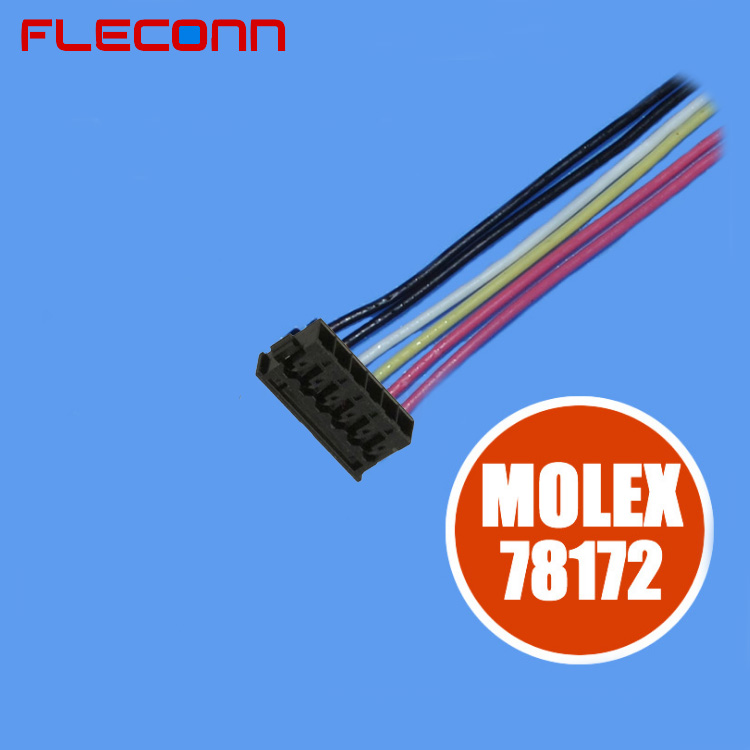12mm Pitch Molex Pico-EZmate 78172 Batter Wire Harness, 2 3 4 5 6 Pin