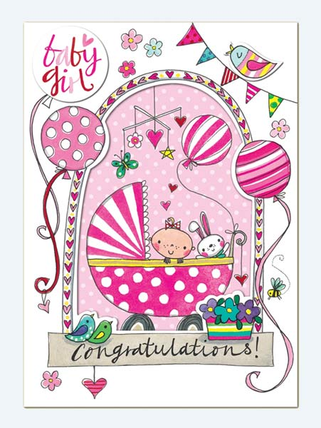 Rachel Ellen New Baby Girl Greeting Card £265