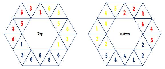 Hexaflexagons - hexaflexagon template