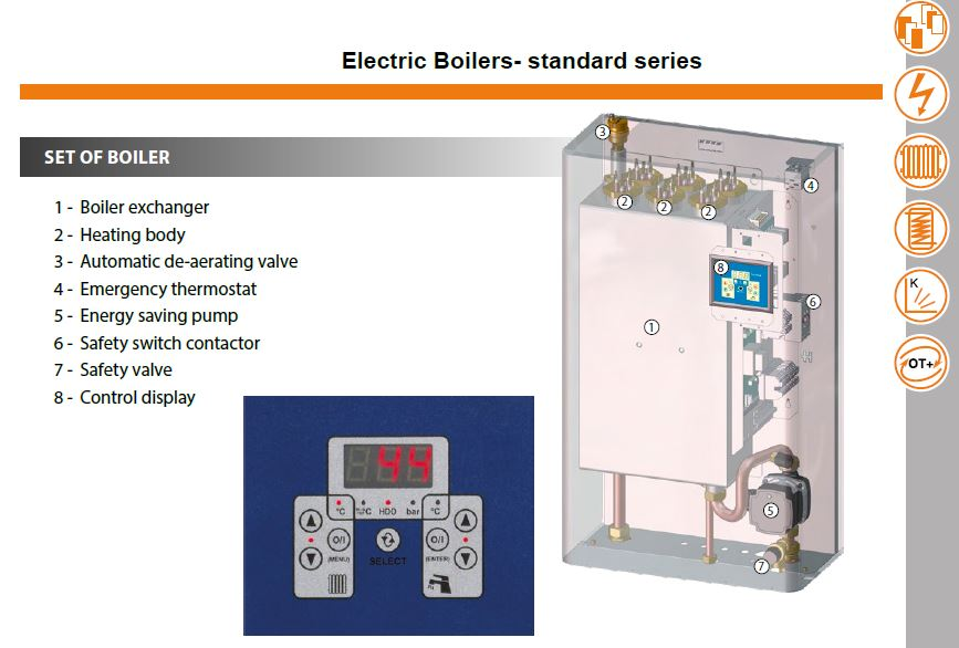 Electric Boilers / Electric Central Heating Boilers - 05kW to 45kW