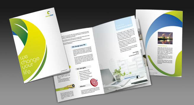 Two Fold Brochure Design for Ozone free Industrial Products - two fold brochure