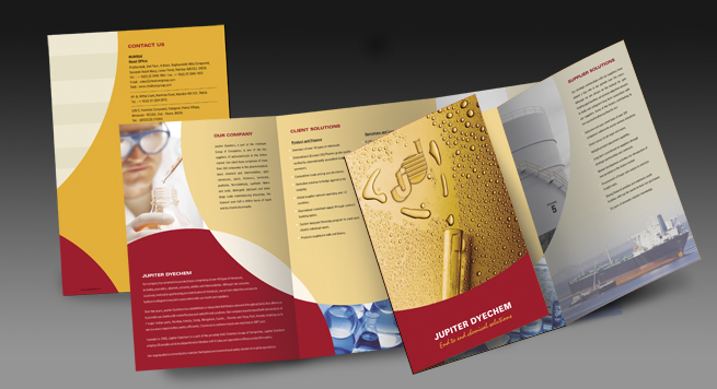 Two Fold Brochure Design and Printing for Bulk Petrochemicals Supplier - two fold brochure