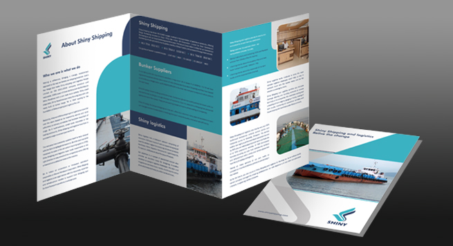 Two Fold Brochure Design for Shipping Logistics Management Company - two fold brochure
