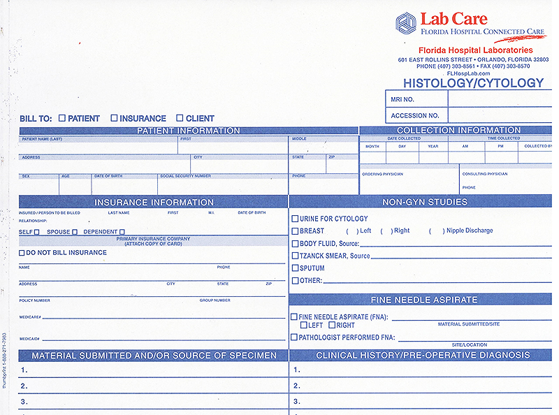 REQUISITIONS / FORMS Product categories Lab Care \u2013 Florida