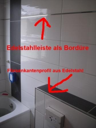 Fliesenkantenprofile \ Schienen als Abschluss Fliesen Fieber - badezimmer leisten