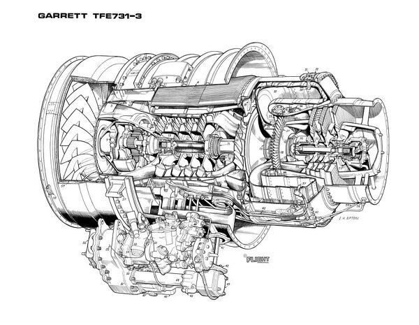 garrett-tfe731-3-cutaway-drawing-1569729jpg (600×465 - turbine engine mechanic sample resume