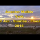 FPV Flyingwing – Sunrise Flight Over Flooded Fields South of York