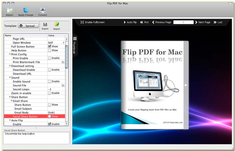 How to make flipping book or catalog on MAC?