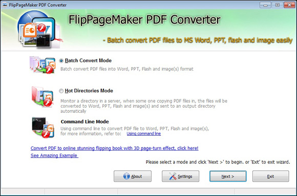 Freeware FlipPageMaker PDF Coverter automate the conversions of PDF - Convert File To Pdf