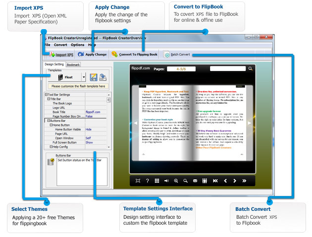 Flip XPS - converting xps to flash page flip magazine - FlipPDF