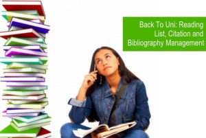 Reading List, Citation and Bibliography Management