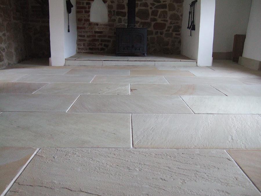 Modern Flagstone floor restoration