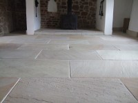 Modern Flagstone floor restoration