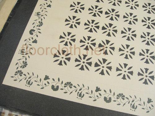 Ebenezer Durant Floorcloth Design Village Floorcloths