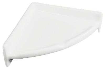 Porcelain Corner Shelf Round White Glossy By Hcp