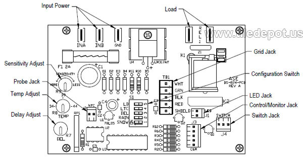 heating system control wiring in conduit system