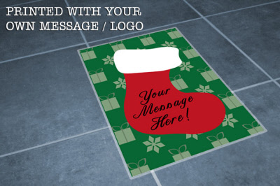 A2 Custom Christmas Floor Sticker Graphics