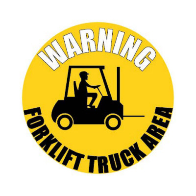 Fork Lift Warning Floor Sign Stickers Graphics