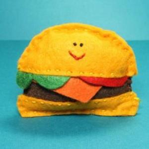 Catnip Cat Toy - Cheeseburger $8.00