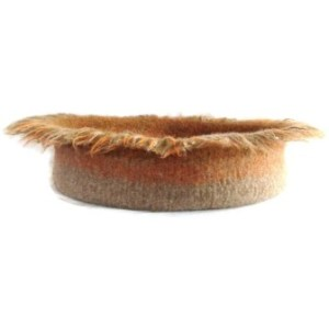 Hand Knit Peruvian Highland Wool Felted Cat Napper Cat Bed - Robespierre
