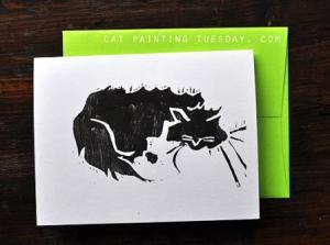 Sleeping Cat Notecards
