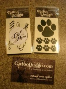 Temporary Cat Tattoos from Cattoo Design