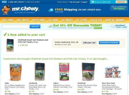 MrChewy.com Order Process