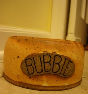 Bubbie LG Potter Personalized Ceramic Pet Bowl