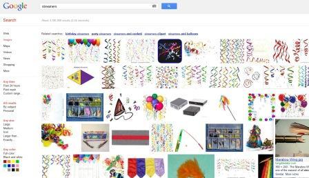 Cat Birthday Hat - Streamers Google IMages Screen Shot