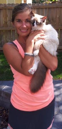 How to Hold a Ragdoll Kitten on your shoulder