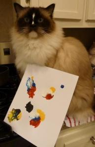 Kitty Casso Paint Kit for Cats Charlie and His Painting
