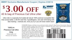 Precious Ultra Litter coupon