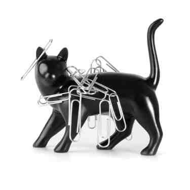 Black Cat Paper Clip Magnet