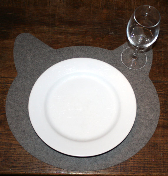 Cat Coasters Mousepads and Housewares from feltplanet on Etsy 2