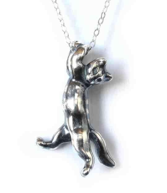 Sterling Silver Kitten Pendant from Steve Worthington Art Giveaway