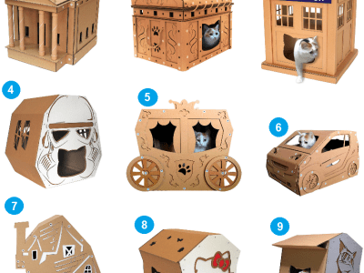 Cardboard Cat Furniture by CacaoFurniture