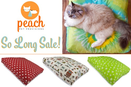 Peach Pet Provisions So Long Sale