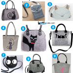 9 More Cute Etsy Purses with Cats on Them