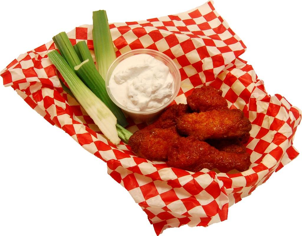 Buffalo Fake Wings Red Sauce In Basket Fake Food